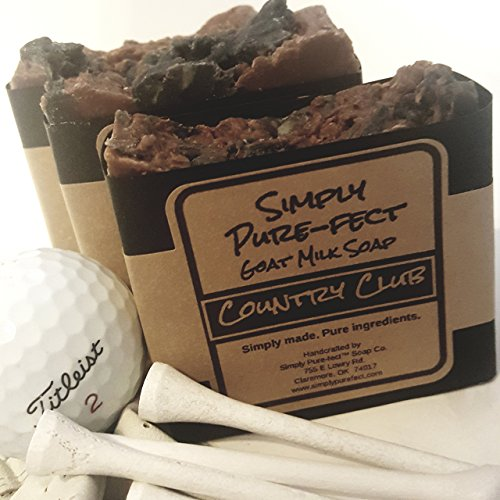 Country Club Goat Milk Soap - Handmade Natural Soap - 2 Pack - Long Lasting and Luxurious Lather