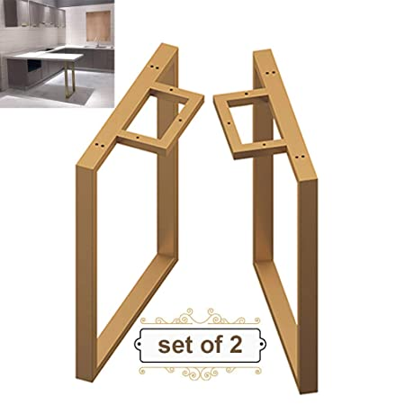 Refue 2 × Patas de Mesa de Metal, Patas de Muebles en Forma de U para
