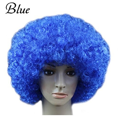 JOY DRAGON Afro Wigs ,Halloween,Christmas,Carnival,cheerleaders,Costume Party Wigs Curly Clown Disco Circus Costume Adult Children Dress Up(16 colours) (Gold Afro Wig)