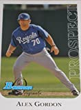 2006 Bowman Originals Prospects #50 Alex Gordon - Kansas City Royals (Rookie / Prospect) (Baseball Cards)