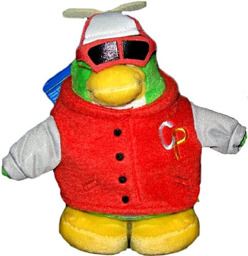 Penguin Club Series Disney - Disney Club Penguin 6.5 Inch Series 12 Holiday Plush Figure Rookie Includes Coin with Code!