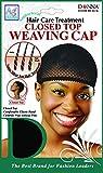 (PACK OF 12) DONNA ANTIBACTERIAL AG NANO CLOSED TOP WEAVING CAP #22310 BLACK