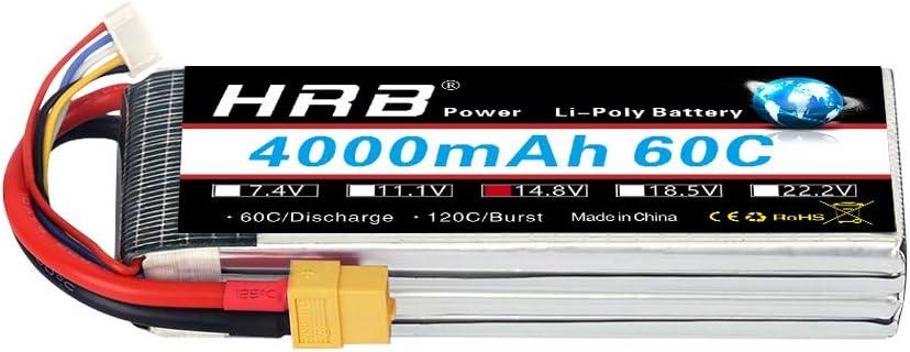 Bateria  4S Lipo  14.8V 4000mAh 60C XT60