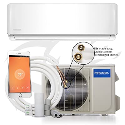 MRCOOL DIY Ductless Mini Split Air Conditioner and Heat Pump System with Wireless-Enabled Smart Controller; Works with Alexa, Google or App;