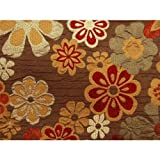 Benihana Futon Cover Full Size, Proudly Made in USA (Flower Petals, Colorful Print, Hawaiian Theme)