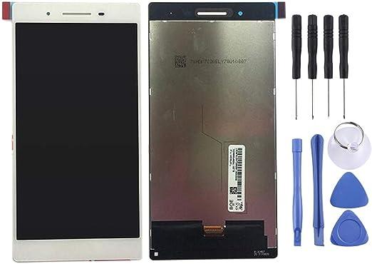 Ycjp LenovoTab4 TB-7504X /Tab4 TB-7504N用LCDスクリーンとデジタイザーのフルアセンブリ (色 : 白)