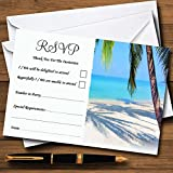 Tropical Beach Palm Tree Personalized RSVP Cards offers