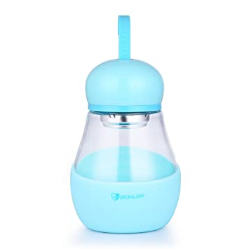 oneisall gybl275 350 ML – Botella de Cristal, vertidos Borrosilicate Vaso de té de Cristal