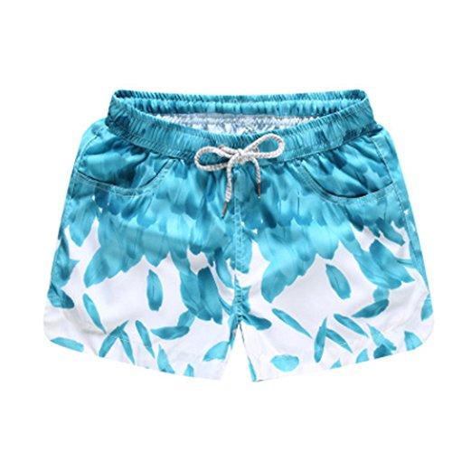 Pantaloncini Ndier Pantaloncini Donne Verde Stampati di Corti Spiaggia Bagno Mare Piscina da Spiaggia Sportivi Donna Piuma da Calzoncini Costumi dwwrOqg