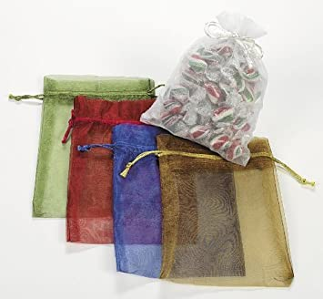 Amazon.com: LARGE SHEER MESH DRAWSTRING GIFT BAGS (1 DOZEN) - BULK ...