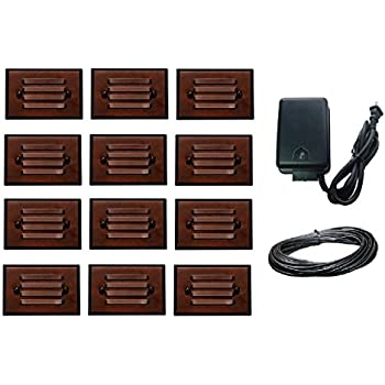 12 pack malibu 8406 2403 12 led half brick outdoor deck step light 14 piece malibu lighting kit led half brick outdoor deck step light oil rubbed bronze finish aloadofball Choice Image