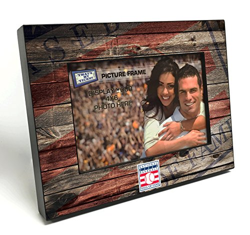 Baseball Photo Frame (National Baseball Hall of Fame Wooden 4x6 inch Picture Frame)