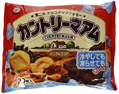 Japanese Chocolate Cookies Country Maam Vanilla and Cocoa Taste By Fujiya - Japanese Chocolate Cookies