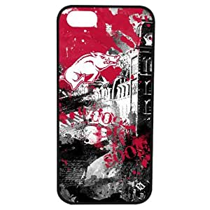 NCAA Arkansas Razorbacks Paulson Designs Spirit Case for iPhone 5/5s, Black, Medium