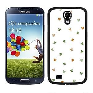 Funda carcasa para Samsung Galaxy S4 diseño ilustración estampado mariposas verde y naranja borde negro
