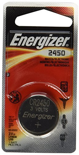Energizer CR2450 Lithium Battery, 3v ECR2450, 12 PK