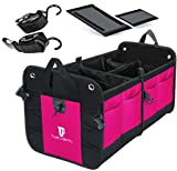 Automotive : TrunkCratePro Premium Multi Compartments Collapsible Portable Trunk Organizer for auto, SUV, Truck, Minivan (pink)
