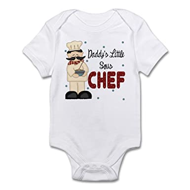 64f19f4bc Amazon.com: CafePress Daddy's Little Sous Chef Baby Baby Bodysuit: Clothing