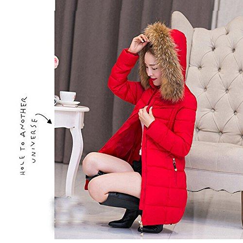 Lammy Rosso Tunica Caldi 4xl Più Cotone Donne Moda Parka Spesso Jersh Giacca m Inverno Di Di Sportiva Cappotto Lunga Casuale Giacca Bella Donne Tuta 8qxUagS