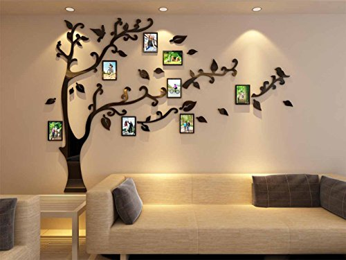 3d Picture Frames Tree Wall Murals for Living Room Bedroom Sofa Backdrop Tv Wall Background, Originality Stickers, Wall Decor Decal Sticker (70(H) x 98(W) inches) by DecorSmart (Image #3)