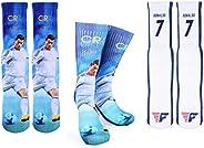 Ronaldo #7 Soccer Crew Socks - CR7 Cristiano Ronaldo Autographed -One Size Fits 6-13 - Soccer Fan Gift