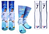 Forever Fanatics Ronaldo #7 Soccer Crew Socks  CR7 Cristiano Ronaldo Autographed One Size Fits 6-13  Made in USA  Ultimate Soccer Fan Gift (Size 6-13, Ronaldo #7 Gift Set)