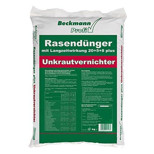 Rasendünger mit Unkrautvernichter+Langzeitwirkung Beckmann 15 kg für ca 500m²