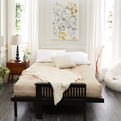 Mozaic Full Size 6-inch Cotton Twill Futon Mattress, Red