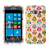 ATIV S Neo Case, [Retro Owls on Cream] Slim Grip Rubberized Hard Plastic Case for Samsung ATIV S Neo (2013)