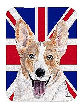 Caroline tesoros del Cardigan Corgi con Inglés Union Jack bandera de Reino Unido alfombrilla para ratón, Hot Pad o salvamanteles (SC9891MP): Amazon.es: ...