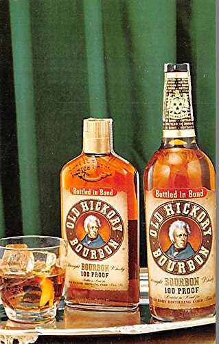 Wine and Liquor Advertising Old Vintage Antique Post Card Old Hickory Bourbon Unused ()
