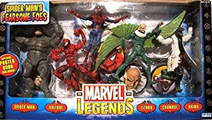 f53439d326a75 Marvel Legends Spider-Man Classics Fearsome Foes Figure Pack by Toy Biz