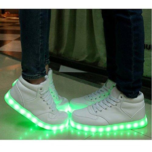 ... [Present:kleines Handtuch]JUNGLEST® Lackleder High-Top 7 Farbe LED  Leuchtend ...