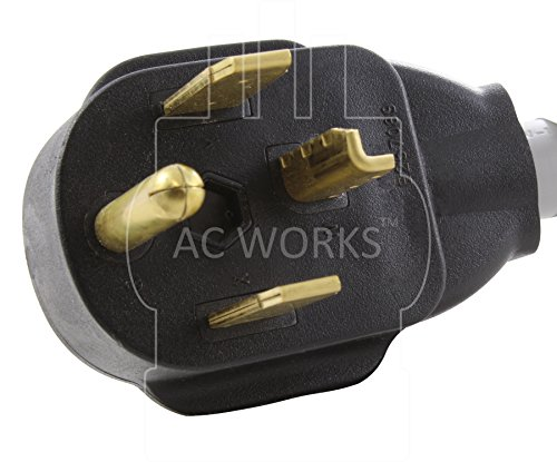 AC WORKS Electric Vehicle charging Adapter Cord for Tesla use (4Prong Dryer to Tesla) by AC Connectors (Image #2)