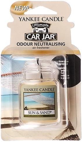Amazon.es: Yankee Candle 1521598E Ambientador Ultimate de Tarro para Coche, Aloe Water, Green, 0.1x6.9x8.1 cm