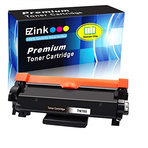 E-Z Ink (TM) with Chip Compatible Toner Cartridge Replacement for Brother TN760 TN-760 TN730 TN-730 (Black,1 Pack) ()