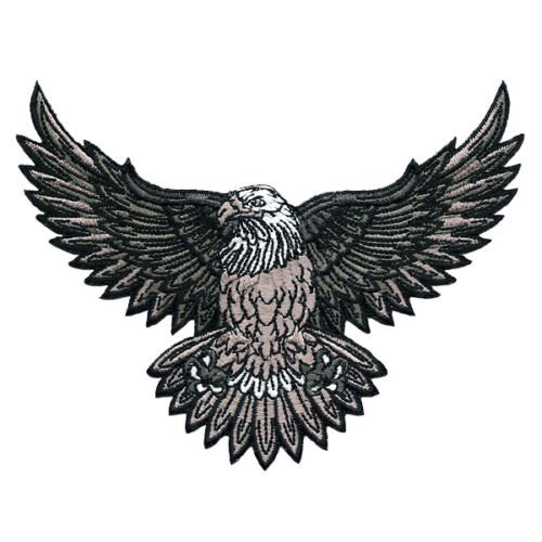 VEGASBEE® AMERICAN BALD EAGLE US NATIONAL SYMBOL BIKER JACKET VEST LARGE EMBROIDERED PATCH White Headed Eagle