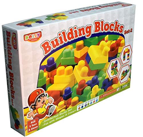 KBS Dolly Plastic Jumbo Intellectual Building Block Set  Multicolor