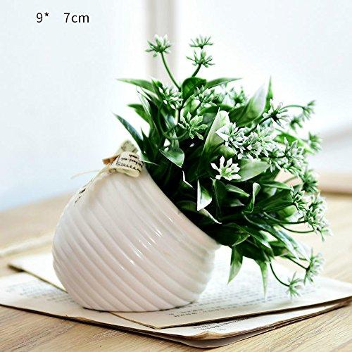 Plantas en macetas adornos de flores decoraciones smallbonsai flor de plástico,Lavanda: Amazon.es: Hogar