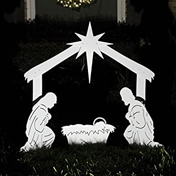 Amazon outdoor nativity store holy family outdoor nativity teak isle outdoor nativity scene holy family yard nativity set mozeypictures Images