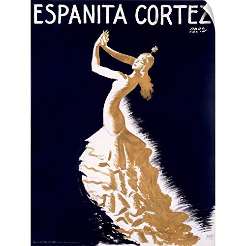 CANVAS ON DEMAND Espanita Cortez, Vintage Poster, by Paul Colin Wall Peel Art Print, 45