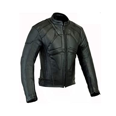 Amazon.com: Chaqueta de piel para hombre, estilo Dark Rider ...