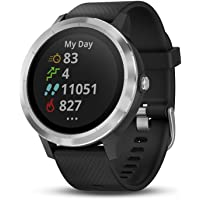 Garmin vívoactive 3, GPS Smartwatch with Contactless Payments and Built-in Sports Apps,Black/Silver