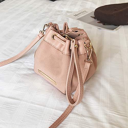 Piccola The donna da spalla donna Borsa Yukun Pink Fashion Bucket Pink invernale Simple Way da wftg8fq