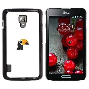 Be Good Phone Accessory // Dura Cáscara cubierta Protectora Caso Carcasa Funda de Protección para LG Optimus L7 II P710 / L7X P714 // woodpecker cute
