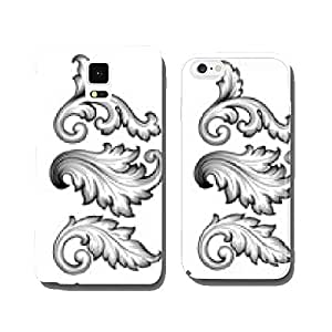 Vintage baroque floral scroll set ornament vector cell phone cover case Samsung S5