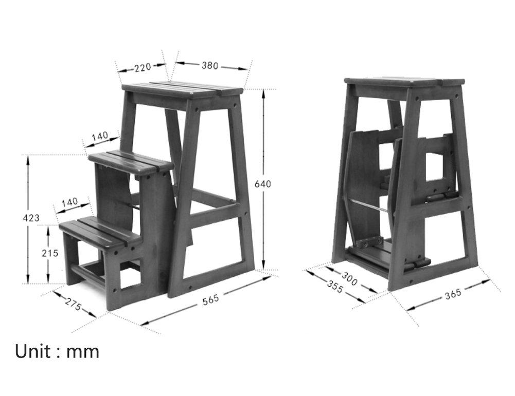 Scaletta In Legno Pieghevole : Jia jia jia he scaletta in legno massello scaletta in legno con