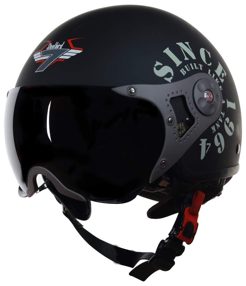 Steelbird Wings Tank Open Face Graphic Helmet