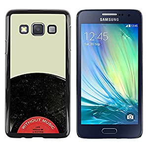 TopCaseStore / la caja del caucho duro de la cubierta de protección de la piel - Record Vinyl Audiophile Music Red Black - Samsung Galaxy A3 SM-A300