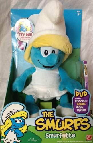 Smurfs Smurfette 12'' Plush with Sounds and DVD by The Smurfs